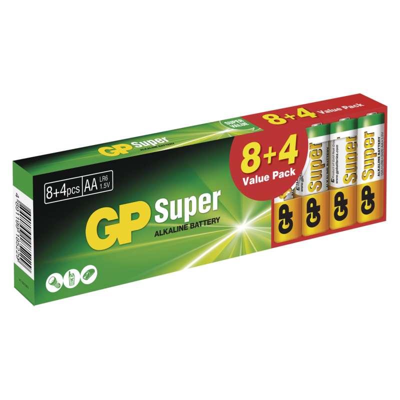 Alkalická baterie GP Super LR6 (AA) 12KS