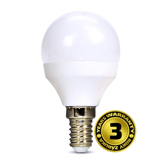 Solight LED žárovka, miniglobe, 6W, E14, 3000K, 450lm